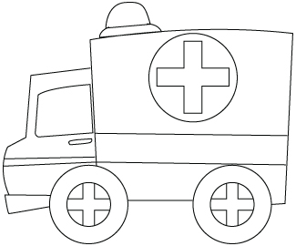 dessin à colorier d'ambulance