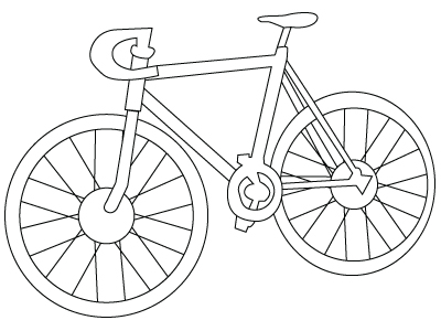 Coloriage v lo de course - Bicyclette dessin ...